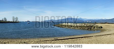 Beach at English Bay in Vancouver island, british columbia, Canada