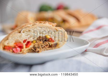 Stromboli - italian sandwich bread