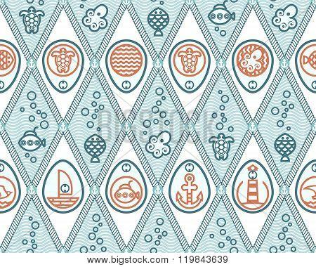 Ocean Pattern Rhombus