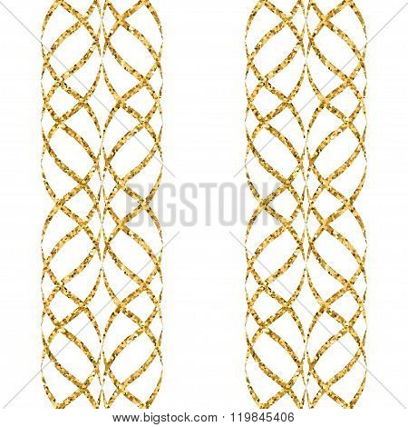 Arabic Gold Seamless Pattern Wave