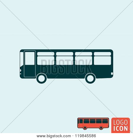 Bus Icon Isolated