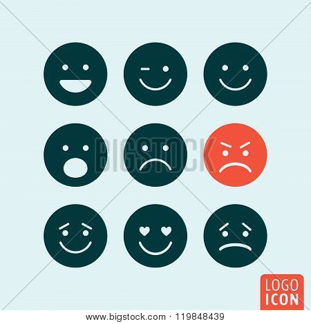 Emoticons Icon Isolated