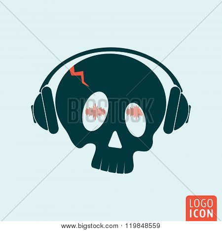 Skull Headphones Icon