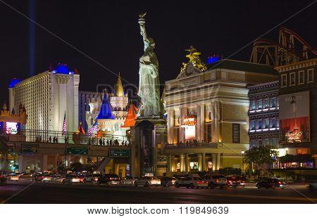 New York-new York Located On The Las Vegas Strip Is Shown In Las Vegas