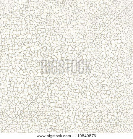 Cracked Seamless Pattern Vector Texture On White Background