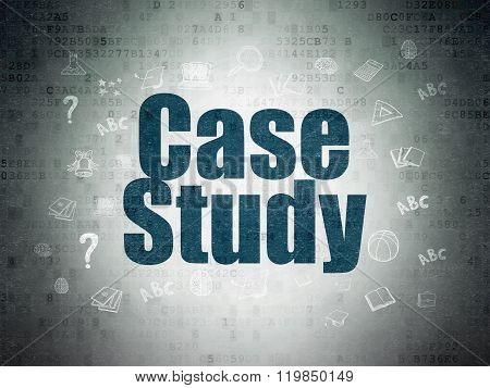 Studying concept: Case Study on Digital Paper background
