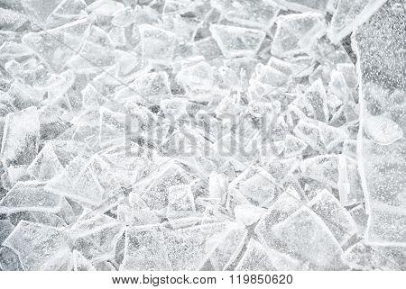 Winter Background With Textured Frozen Ice