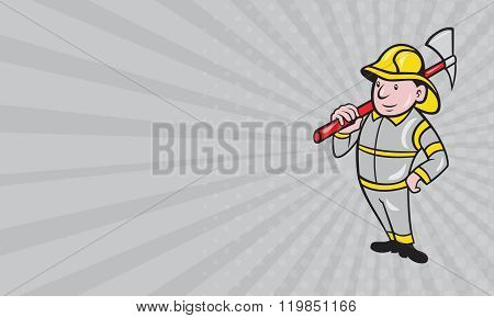 Business Card Fireman Firefighter Emergency Worker