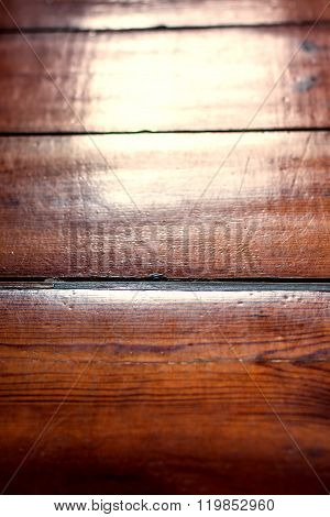 Texture Of Wooden Boards Floor With Sun Lights From A Window. Glazed Wood Plank