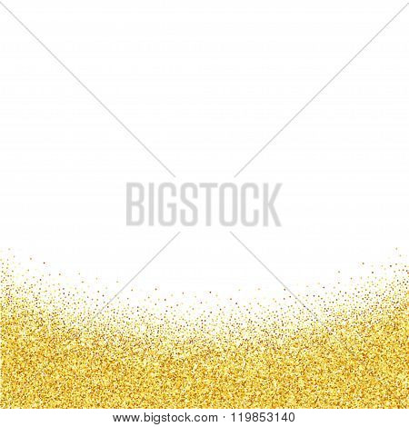 Abstract vector gold dust glitter background