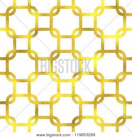 Gold glittering foil seamless pattern