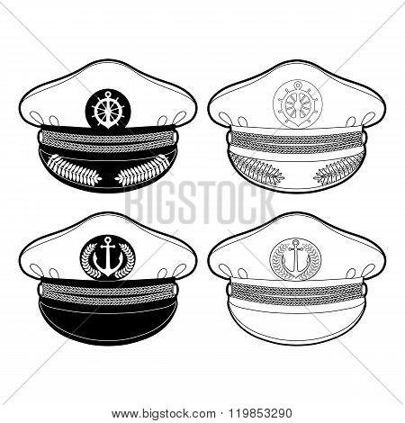 Graphic captain cap