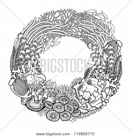 Coral reef wreath