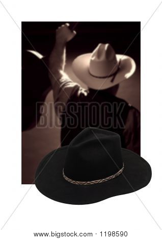 Western Cowboy Hat and Country Singer Poster