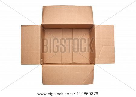 Opened Corrugated Cardboard Box