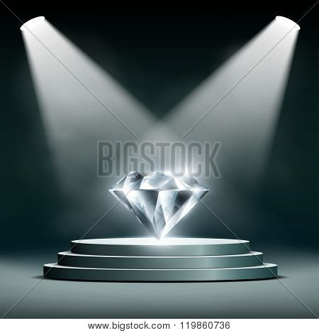 Diamond On Pedestal