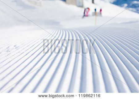 Snow Lines Made From A Snow Machine