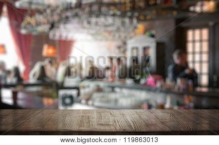 bar in a night club