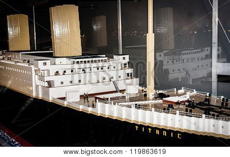 Titanic Legendary Colossal Boat, Made By Lego Blocks.
