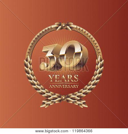 Thirty years anniversary celebration vector design