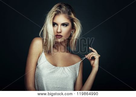Beauty Portrait Of A Young Blonde Woman