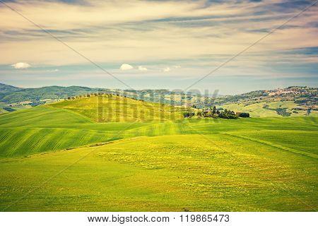 Beautiful tuscany landscape at spring , Italy