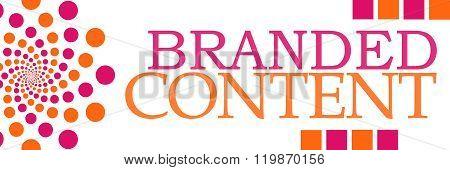 Branded Content Pink Orange Dots Horizontal