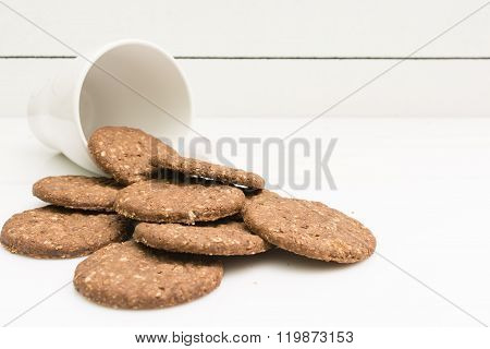 Delicious gluten-free biscuits and a cup for milk