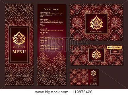 Vector Illustration Of A Menu For A Restaurant Or Cafe Arabian Oriental Cuisine