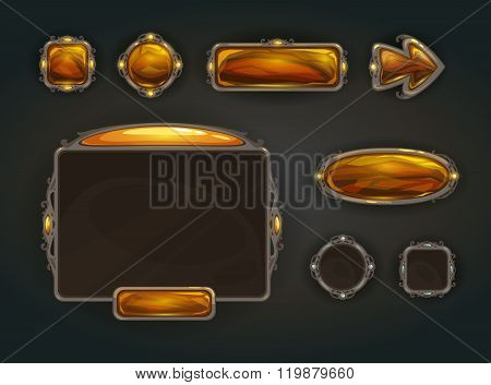 Cool game user interface vector assets