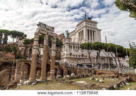 Ancient Roman Forum View