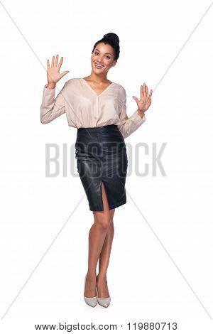 Woman showing ten fingers