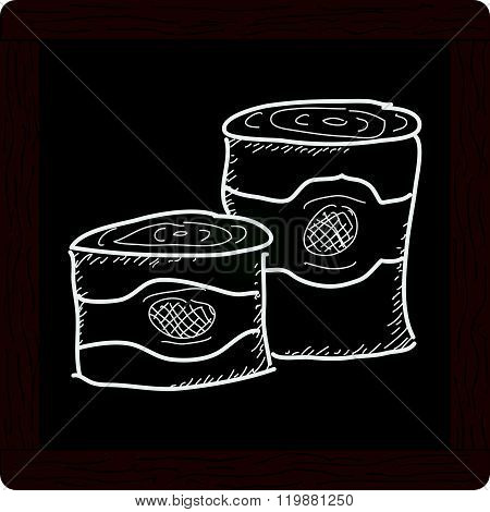 Simple Doodle Of Some Tin Cans