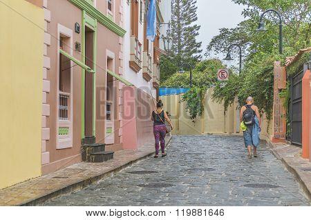 Colonial Street Las Penas In Guayaquil Ecuador