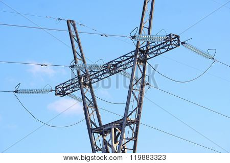 power transmission line supporting structure
