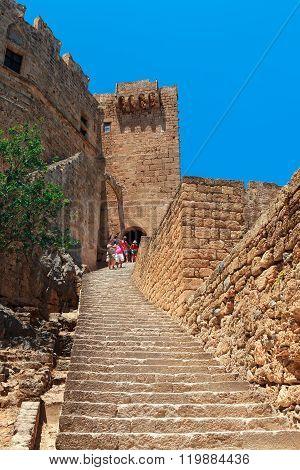 Medieval Castle in Lindos, Rhodes.
