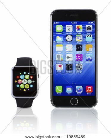 Apple Watch Sport With Iphone 6S