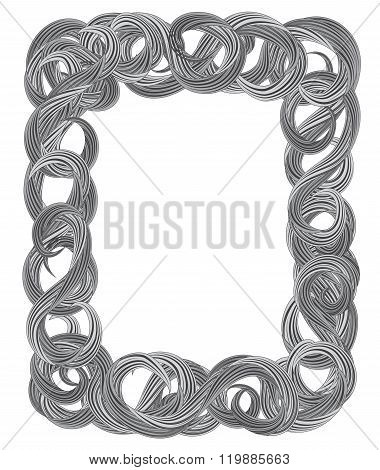 decorative frame from curls