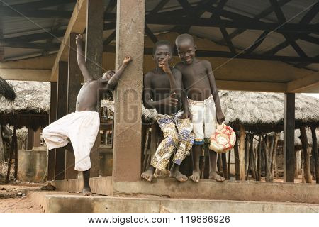 African boys playing