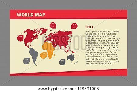 World map template 1