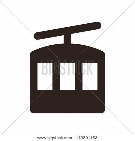 Ropeway Icon. Lift Symbol