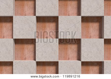 Close-up Of Beige Cubes On Wooden Surface