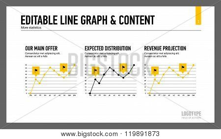 Line graph and content slide template