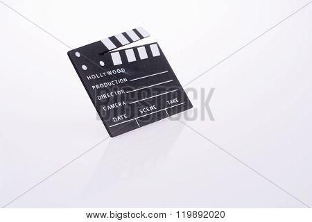 BLACK Film clapper on a white background