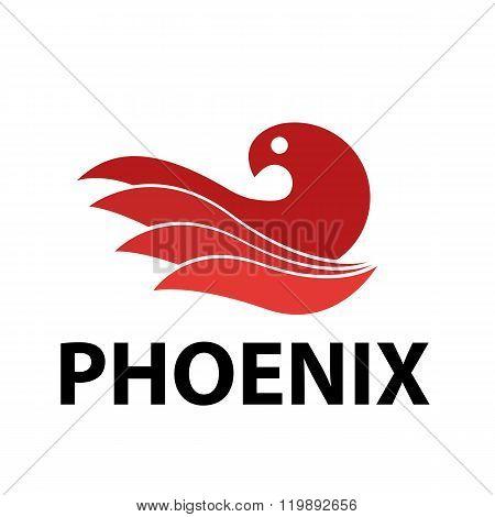 Flat Phoenix Bird Logo