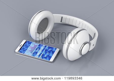 Smartphone And Wireless Headphones