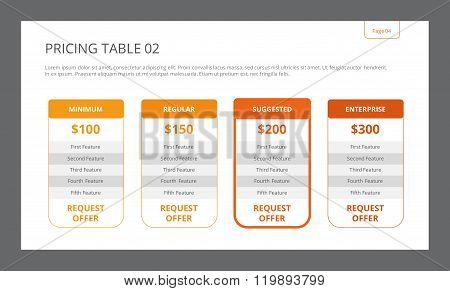 Pricing Table Template 2