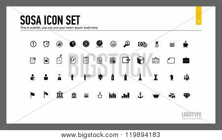 Sosa icon set slide template