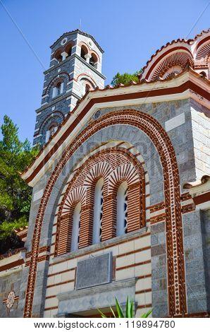 Selinari Monastery Is Located In The Picturesque Island Of Crete (greece)