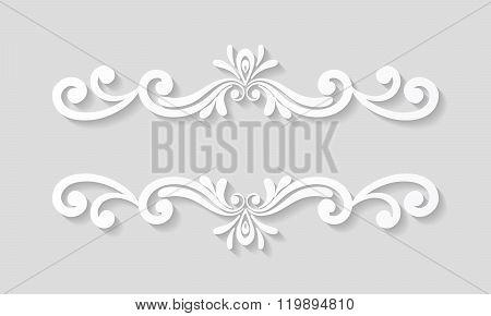 Elegant paper retro floral border.